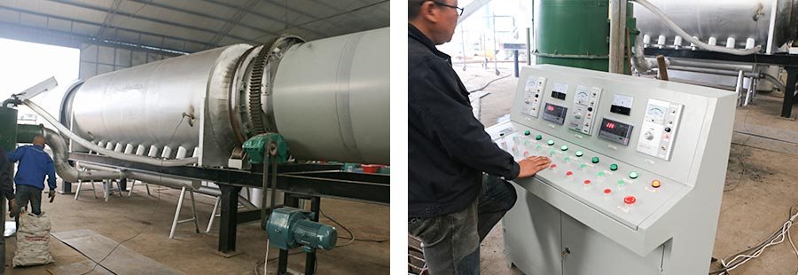 rotary carbonation kiln